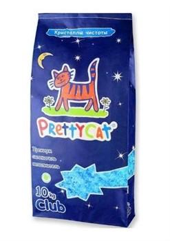 PRETTY CAT Силикагелевый наполнитель Кристаллы чистоты - фото 12019