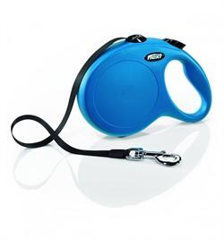FLEXI рулетка-ремень для собак до 50кг, 8м, (New Classic L Tape 8 m, blue) - фото 12366