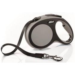FLEXI рулетка-ремень для собак до 60кг, 5м,   (New Comfort L Tape 5 m, blue) - фото 12368