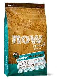 Now Natural Holistic Контроль веса - беззерновой корм для Собак Крупных пород с Индейкой, Уткой и овощами (Fresh Senior Large Breed Recipe Grain Free) 11,30 кг - фото 12615