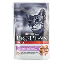 Pro Plan д/к конс.в/у  Nutri Savour ADULT Cat желе индейка (0,085 кг) - фото 13035