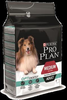 PRO PLAN для взрослых собак средних пород с чувствительным пищеварением ягненок  (14 кг) - фото 13951