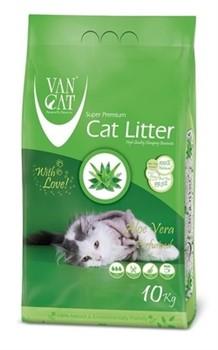 VAN CAT Комкующийся наполнитель без пыли с ароматом Алоэ вера , пакет (Aloe Vera) - фото 15001