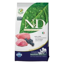 N&D PRIME DOG LAMB AND BLUEBERRY ADULT MEDIUM & MAXI 12 кг - фото 15849