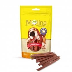 MOLINA Молина Молина Лакомство д/щенков Нарезка из ягненка, 65 г. - фото 17556