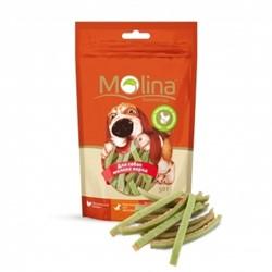 MOLINA Молина Лакомство д/собак мелких пород Куриные полоски со шпинатом, 50 г. - фото 17560