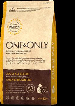 ONE&ONLY Duck & Rice Adult All BreedsУтка с рисом для взрослых собак всех пород   - фото 17665