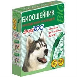 Доктор ЗОО БИОошейник д/собак против блох и клещей зеленый 65см - фото 20413