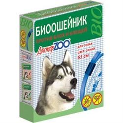 Доктор ЗОО БИОошейник д/собак против блох и клещей синий 65см - фото 20417