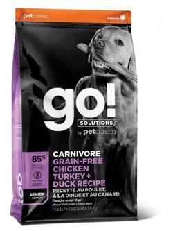 GO! беззерновой для пожилых собак всех пород 4 вида мяса: Индейка, Курица, Лосось, Утка, GO! CARNIVORE GF - фото 21233