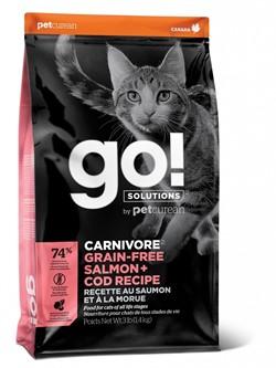 GO! беззерновой корм для котят и кошек, с лососем и треской, GO! CARNIVORE GF Salmon + Cod (7,26 кг) - фото 21279