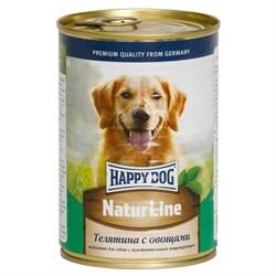 HAPPY DOG консервы д/с телятина с овощами 400г - фото 25727