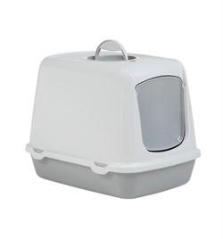 Beeztees  Oscar Туалет-домик д/кошек серый 50*37*39см - фото 26189