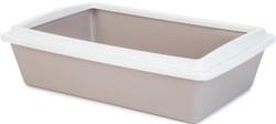 Beeztees  Туалет д/кошек с бортиком светло-розовый 50*35*12см - фото 26190