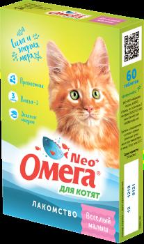 Омега Neo+ Лакомство мультивитаминное д/котят Веселый малыш с пребиотиком и таурином - фото 26828