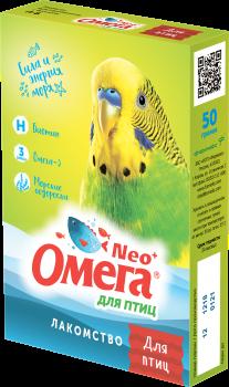 Омега Neo+ Лакомство мультивитаминное д/птиц с биотином - фото 26835