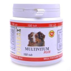 Полидекс 5981 Multivitum plus д/щенков и собак, поливитаминно-минеральный комплекс 150таб - фото 26871