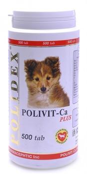 POLIDEX д/собак Поливит Кальций плюс 500 тб - фото 26874