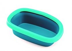 Stefanplast туалет Sprint-20 Trendy Colour с рамкой, бирюзово-голубой, 39х58х17 см, TOILETTE SPRINT 20 - фото 28275