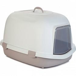 Beeztees  Queen Туалет-домик д/кошек бело-розовый 55*71*46,5см - фото 28287