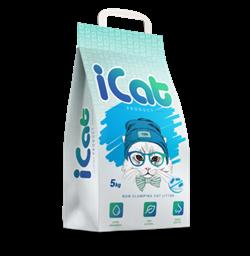 iCat, впитывающий наполнитель антибактериальный, 5 кг - фото 29296