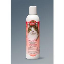 Шампунь от блох и клещей д/кошек (конц. 1:4) Flea&Tick 237 мл.  BioGroom - фото 4713