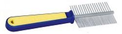 Расческа TRIOL 306  двухсторонняя, сине-желтая ручка 19,5см (пакет) - фото 4738