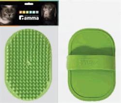Щетка ГАММА резиновая овальная малая 12,5*8см (пакет) - фото 4744