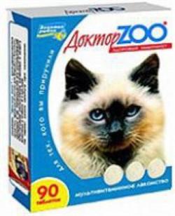 Доктор ЗОО м/в Лакомство д/кошек Повышает иммунитет Морские водоросли 90таб - фото 4863