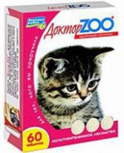 Доктор ЗОО м/в Лакомство д/котят Здоровый котенок 120таб - фото 4864