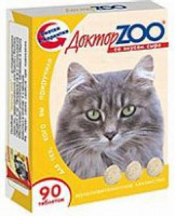 Доктор ЗОО м/в Лакомство д/кошек Сыр 90таб - фото 4866