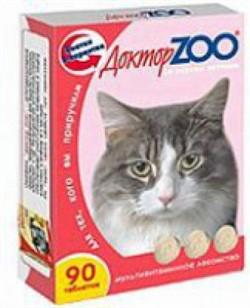 Доктор ЗОО м/в Лакомство д/кошек Ветчина 90таб - фото 4867