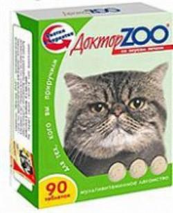 Доктор ЗОО м/в Лакомство д/кошек Печень 90таб - фото 4869