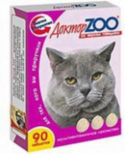 Доктор ЗОО м/в Лакомство д/кошек Говядина 90таб - фото 4870
