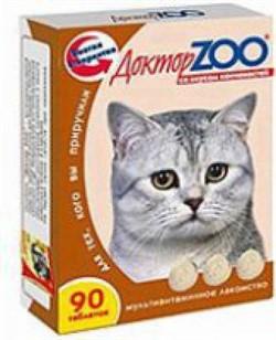 Доктор ЗОО м/в Лакомство д/кошек Копчености 90таб - фото 4871