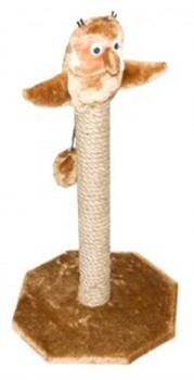 Когтеточка Сова на Столбике, 67см, сизаль, основ.- 36,5*36,5см (8303с) - фото 5179
