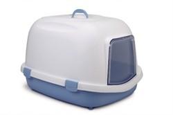 Beeztees 400424 Queen Туалет-домик д/кошек бело-голубой 55*71*46,5см - фото 5751