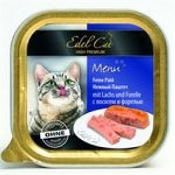 EDEL CAT Эдель Кэт кон.д/кошек паштет с Лососем и с Форелью 100г - фото 5770