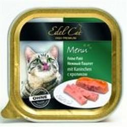 EDEL CAT Эдель Кэт  кон.д/кошек паштет с Кроликом 100г - фото 5771
