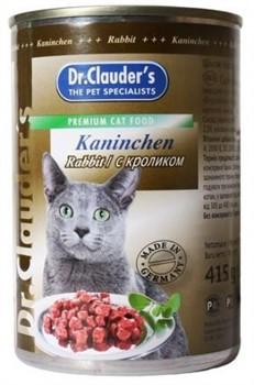 Доктор Клаудер кон.д/кошек с Кроликом 415г - фото 5775