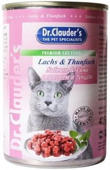 Доктор Клаудер кон.д/кошек с Лососем и Тунцом 415г - фото 5777