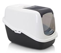 Beeztees  Nestor Туалет-домик д/кошек черно-белый 56*39*39см - фото 5784
