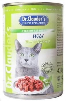 Доктор Клаудер 11405 кон.д/кошек с Дичью 415г - фото 6662