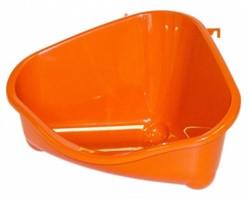 Moderna Туалет для грызунов pet's corner угловой малый, 18х12х9, оранжевый - фото 7203