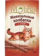 MOLINA Молина лакомства д/к Жевательные колбаски с уткой 36г - фото 7601