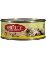 BERKLEY Беркли Консервы для кошек с индейкой и сыром, Adult Turkey&Cheese - фото 7700