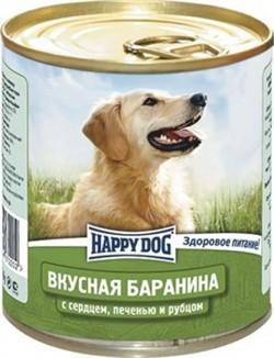 HAPPY DOG консервы д/с баранина с сердцем,печенью и рубцом 750г - фото 8321