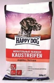 HAPPY DOG полоски д/с индейка 200г - фото 8396