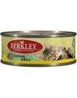BERKLEY Беркли Консервы для кошек с лососем и рисом, Adult Salmon&Rice - фото 8640