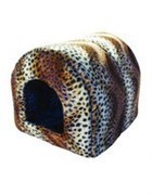 Мягкий Домик Леопард N2: 45*40*41см, флок+нейлон (9682)